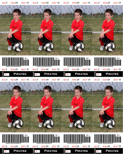 Kaden Sports Ticket Soccer 8x10