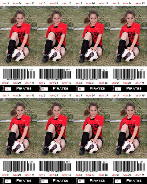 Ethans sister Sports Ticket Soccer 8x10