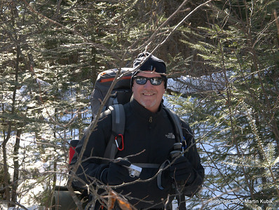 Rod apparently loves snowshoeing through brush.   It was that sense of doing something unordinary, sense of leaving the path well travelled and taking exploration pursued by very few.