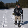 This is Rod on his first snowcamping trip.   Rod came well prepared and and well trained from the Banning State Park training hike.