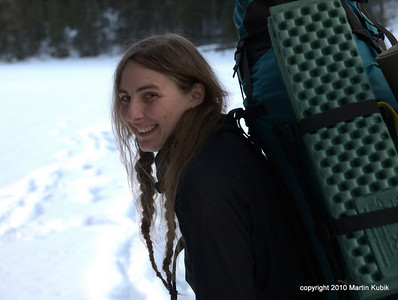 Happiness is temperate weather snowcamping.  First night it was 10 above in the morning, tonight it will be 17 above and on the last night 30 degrees - that's like tropical in the snowcamping lexicon.