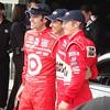 """Front-row qualifiers Dario Franchitti, Hélio Castroneves, and Ryan Briscoe <p>This image is released under the <a rel=license href=""""http://creativecommons.org/licenses/by-sa/3.0/"""">Creative Commons Attribution-Share Alike 3.0 Unported License</a>.  <p>This image is released under the <a href=""""http://www.gnu.org/licenses/fdl.html"""">Gnu Free Documentation License v. 1.2</a>."""