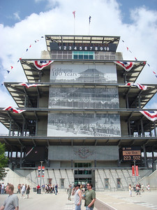 IMS Pagoda as seen from the infield.