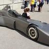 The delta wing car—one possible design for the IndyCar of 2012.