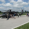 Military helicopter at the Indianapolis Motor Speedway