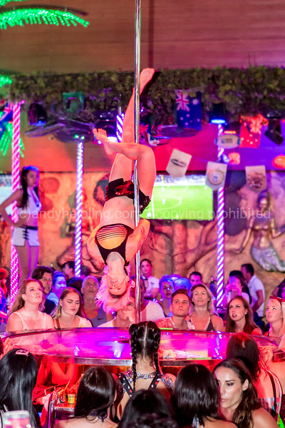 Poledance group in Crazy Horse