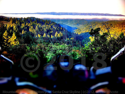 Mountains Morning Motorcycle. Santa Cruz Skyline (c)2011, Bob Heathcote