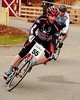"The Porky Gulch Classic, a 3 stage bicycle race, presented by Great Glen Trails, of Gorham, NH, was held on November 6th & 7th, 2010. Sven Cole, of North Bridgton, Maine, stays just ahead of Marc D'Amour, of Lewiston, Maine, during the event's 2nd stage, ""The Story Land Criterium"", which was held at Story Land, a popular theme park in Glen, NH, on Saturday, November 6th, 2010."