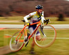 "The Porky Gulch Classic, a 3 stage bicycle race, presented by Great Glen Trails, of Gorham, NH, was held on November 6th & 7th, 2010. Steve Pietrow, of Jackson, NH, hurries through the obstacle portion of the event's 3rd stage, ""Rockpile Rampage"", a cyclocross race, which was held at Great Glen Trails, on Sunday, November 7th, 2010."