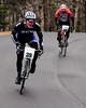"The Porky Gulch Classic, a three stage bicycle race, presented by Great Glen Trails, was held on November 6th & 7th, 2010. Jamie Gilroy (#39), of Marblehead, MA, and Mark Flaherty, of W. Newbury, MA, near the end of the event's first stage, ""The Toughest Two"", a time trial, in which riders raced up the first 2 miles of the Mt. Washington Auto Road."