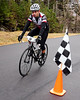 "The Porky Gulch Classic, a three stage bicycle race, presented by Great Glen Trails, was held on November 6th & 7th, 2010. Paul Degliangeli, of Center Conway, NH, finishes the event's first stage, ""The Toughest Two"", in which riders raced up the first 2 miles of the Mt. Washington Auto Road, in a time trial format."