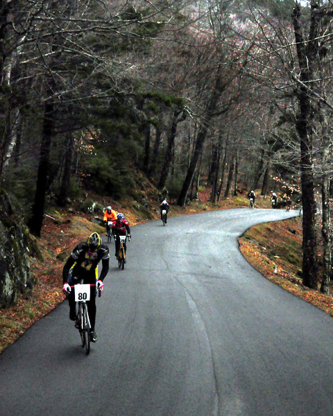 "The Porky Gulch Classic, a three stage bicycle race, held over two days, and hosted by Great Glen Trails, on November 6th & 7th, 2010.  I Stage 1, ""The Toughest Two"", these riders, led by Cody Whelan, of Deerfield, NH, raced up the first 2 miles of the Mt. Washington Auto Road, in a time trial format. Stage 2, ""Story Land Criterium"", was held at Story Land, in Glen, NH, with a 3 division critertium, through the popular theme park, and finished on November 7th, with ""Rockpile Rampage"", a cyclecross event held at Great Glen Trails, in Gorham, NH."