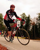 "The Porky Gulch Classic, a 3 stage bicycle race, presented by Great Glen Trails, of Gorham, NH, was held on November 6th & 7th, 2010. Sven Cole, of North Bridgton, Maine, rounds a corner during the event's 2nd stage, ""The Story Land Criterium"", which was held at Story Land, a popular theme park in Glen, NH, on Saturday, November 6th, 2010."