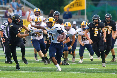 Portage Central At Traverse City Central Football The Record Eagle