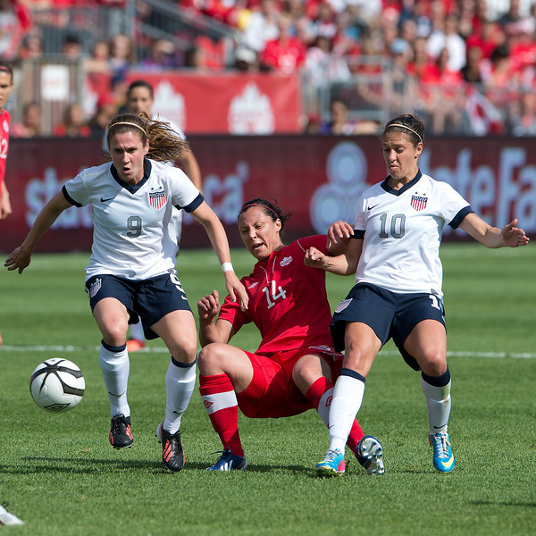 Heather O'Reilly ,Carli Lloyd,Melissa Tancredi