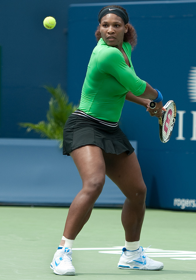 August 14 2011: Serena Williams of USA in action during the 2011 Rogers Cup Final at the Rexall Centre in Toronto, Ontario Canada.<br /> Serena Williams of USA won 6-4,6-2.