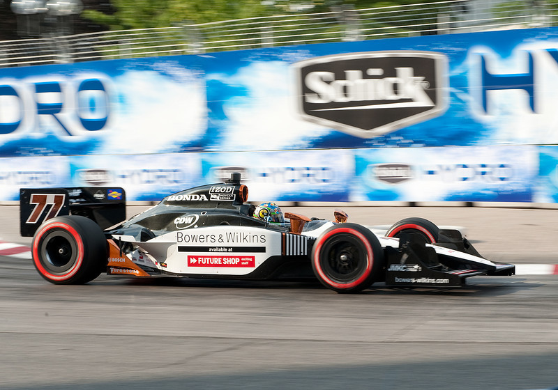 July 10 2011:  Honda Indy driver Alex Tagliani #77 of Sam Schmidt Motorsports in action during the Indy Car Warm-up for the 2011Honda Indy Car race at Exhibition Place in Toronto, Ontario Canada.