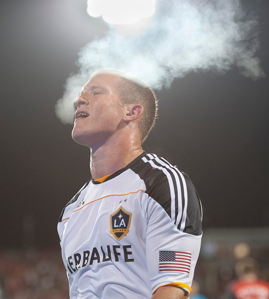 13 April 2011: Los Angeles Galaxy forward Chad Barrett #11 in action during an MLS game between Los Angeles Galaxy and the Toronto FC at BMO Field in Toronto, Ontario Canada.<br /> The game ended in a 0-0 draw.