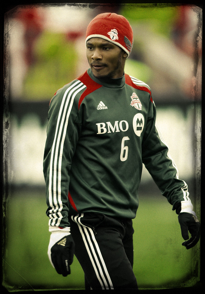 April 21, 2012: Chicago Fire at Toronto FC - Toronto FC midfielder Julian DeGuzman #6.
