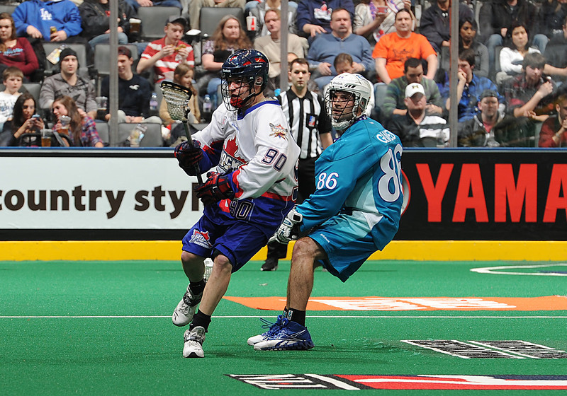 February 24, 2012: Rochester Knighthawks at The Toronto Rock - The Toronto Rock Home Page. <br /> Photo by Nick Turchiaro,Craig Abel Photography.