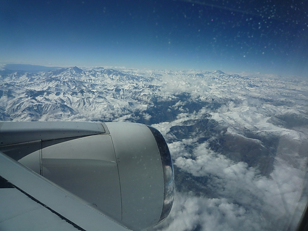 First view of the Andes for me.  About 500 miles north of Santiago