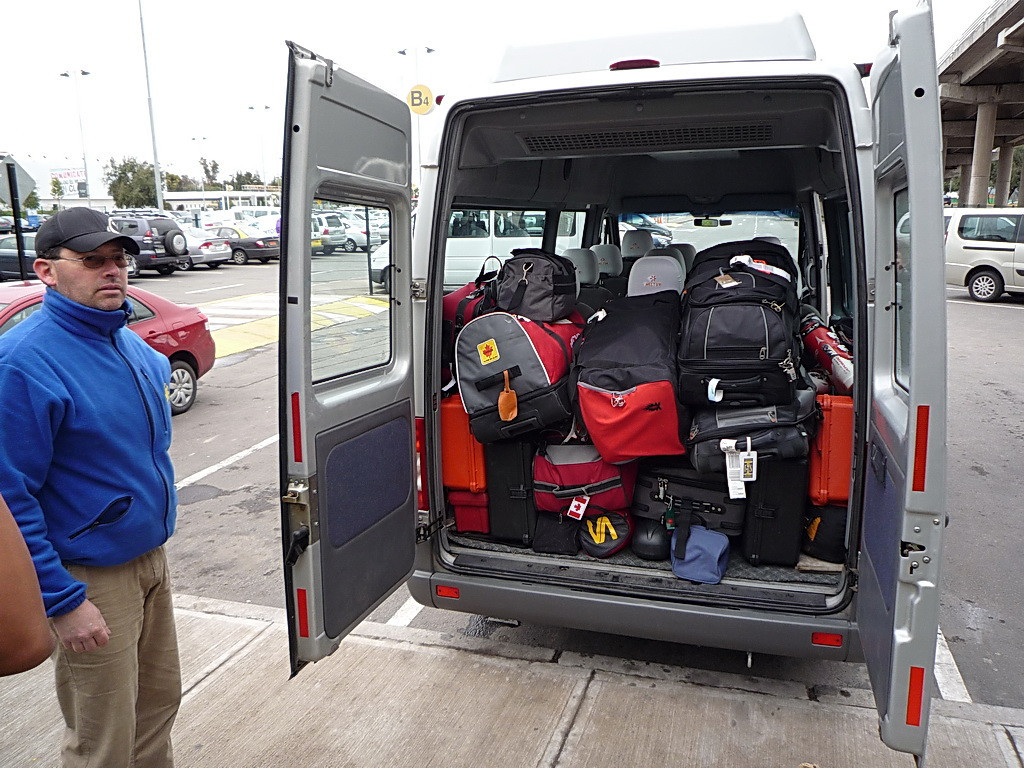 I guess we don't travel light.