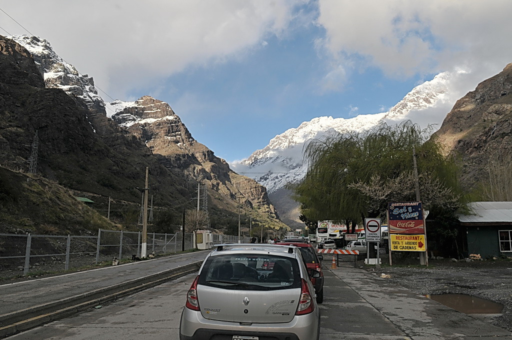 This is the main road to Argentina.  Closed to 1 lane in many places due to construction.