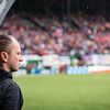 Thorns FC head coach Mark Parsons during the opening festivities of the 2018 home opener at Providence Park in Portland, OR.