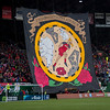 Rose City Riveters tifo for the Thorns FC 2018 home opener at Providence Park in Portland, OR.