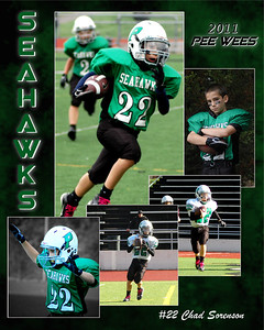8x10 collage - Using action photos from games, parents can select photos to be placed into an action photo collage. What better way is there to capture the feel of the season?