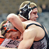 Josh Semmier, Roosevelt wrestles Ty LaFranboise, Eagle Valley  in the 182-pound consolation round match in class 4A during the state wrestling championships at the Pepsi Center in Denver on Saturday.<br /> February 23, 2013<br /> staff photo/ David R. Jennings