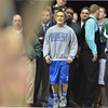 Broomfield's Drew Romero waits to  wrestle  Joel Salomon, Windsor, in the 113-pound 4A class match during the state wrestling championships at the Pepsi Center in Denver on Saturday.<br /> February 23, 2013<br /> staff photo/ David R. Jennings