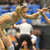 Broomfield's Drew Romero, left, wrestles Windsor's Joel Salomon,  in the 113-pound championship match in class 4A during the state wrestling championships at the Pepsi Center in Denver on Saturday.<br /> February 23, 2013<br /> staff photo/ David R. Jennings