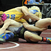 "Seth Harrington, left,  of Sedgwick County controls Cole Baughman  of Dove Creek at 132 pounds in the  2A  championship match.<br /> For more photos of the wrestling, go to  <a href=""http://www.dailycamera.com"">http://www.dailycamera.com</a>.<br /> Cliff Grassmick / February 23, 2013"