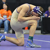 """Holy Family""""s Joseph Prieto prays before wrestling Jefferson's Aaron Cisneros,  in the 126-pound championship match in class 3A during the state wrestling championships at the Pepsi Center in Denver on Saturday.<br /> February 23, 2013<br /> staff photo/ David R. Jennings"""