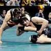 """Jace Lopez, right, of Roosevelt High School works against Ryan Daves of Montezuma Cortez.<br /> For more photos of the wrestling, go to  <a href=""""http://www.dailycamera.com"""">http://www.dailycamera.com</a>.<br /> Cliff Grassmick / February 23, 2013"""