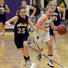 "Boulder High School's Lena Jaycox, at right, dribbles past Austyn Casale during a game against Fort Collins High School on Tuesday, Jan. 29, in Boulder. For more photos of the game go to  <a href=""http://www.dailycamera.com"">http://www.dailycamera.com</a><br /> Jeremy Papasso/ Camera"