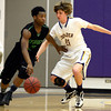 "Boulder High School's Kevin VanLieshout plays tight defense on Jordan Davis during a game against George Washington High School on Wednesday, Feb. 27, in Boulder. For more photos of the game go to  <a href=""http://www.dailycamera.com"">http://www.dailycamera.com</a><br /> Jeremy Papasso/ Camera"