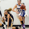 "Katie Croell of Broomfield starts the fast break on Mullen.<br /> For more photos of the game, go to  <a href=""http://www.dailycamera.com"">http://www.dailycamera.com</a>.<br /> Cliff Grassmick / March 2, 2013"