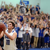 "Spenser Reeb of Broomfield  shoots a technical while the Broomfield student section prepares to react.<br /> For more photos of the game, go to  <a href=""http://www.dailycamera.com"">http://www.dailycamera.com</a>.<br /> Cliff Grassmick / March 2, 2013"