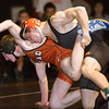 S0201WRESTLE2.jpg S0201WRESTLE2<br /> Erie's William Schell and Mead's Michael Burnette during the 145 pound match at Erie High School on Thursday evening, January 31st, 2013 where Schell won by pin.<br /> <br /> Photo by: Jonathan Castner