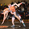 S0201WRESTLE1.jpg S0201WRESTLE1<br /> Erie's Ladd Bunker and Mead's Marco Clark during the 160 pound match at Erie High School on Thursday evening, January 31st, 2013 where Bunker won 12-7.<br /> <br /> Photo by: Jonathan Castner