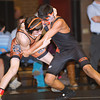 S0201WRESTLE5.jpg S0201WRESTLE5<br /> Erie's Manny Rodriguez  and Mead's Sage Budd during the 113 pound match at Erie High School on Thursday evening, January 31st, 2013 where Budd won by pin.<br /> <br /> Photo by: Jonathan Castner