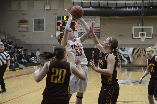 "Erie High School's during a game against Windsor on Tuesday, Feb. 19, at Erie High School. Windsor won the game 48-42. For more photos of the game go to  <a href=""http://www.dailycamera.com"">http://www.dailycamera.com</a><br /> Jeremy Papasso/ Camera"