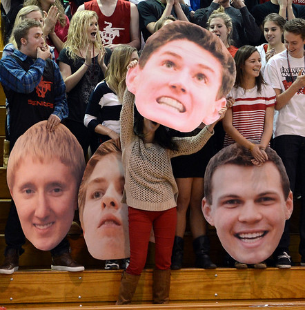 "The Fairview High School student section made sure they put on the best face during the game on Saturday.<br /> For more photos of the game, go to  <a href=""http://www.dailycamera.com"">http://www.dailycamera.com</a>.<br />  Cliff Grassmick  / March 2, 2013"