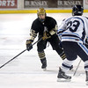 "Monarch's Cameron Taggart moves the puck towards Brendan Aleksivich during the Colorado State Ice Hockey Championship game against Ralston Valley on Friday, March 1, at at Magness Arena in Denver. Monarch lost the game 5-1. For more photos of the game go to  <a href=""http://www.dailycamera.com"">http://www.dailycamera.com</a> <br /> Jeremy Papasso/ Camera"