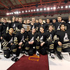 "Monarch Hockey during the Colorado State Ice Hockey Championship gameafter losing against Ralston Valley on Friday, March 1, at at Magness Arena in Denver. Monarch lost the game 5-1. For more photos of the game go to  <a href=""http://www.dailycamera.com"">http://www.dailycamera.com</a> <br /> Jeremy Papasso/ Camera"