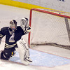 "Monarch goalkeeper Ian Oden misses a save during the Colorado State Ice Hockey Championship game against Ralston Valley on Friday, March 1, at at Magness Arena in Denver. Monarch lost the game 5-1. For more photos of the game go to  <a href=""http://www.dailycamera.com"">http://www.dailycamera.com</a> <br /> Jeremy Papasso/ Camera"