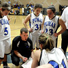 "Peak to Peak Head Coach Chad Rathbun talks with his team in a time out during a game against Lutheran High School on Wednesday, Jan. 30, at Peak to Peak Charter School in Lafayette. For more photos of the game go to  <a href=""http://www.dailycamera.com"">http://www.dailycamera.com</a><br /> Jeremy Papasso/ Camera"