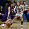 "Peak to Peak's Katharine Kia plays defense on Jennifer Vigil during a game against Lutheran High School on Wednesday, Jan. 30, at Peak to Peak Charter School in Lafayette. For more photos of the game go to  <a href=""http://www.dailycamera.com"">http://www.dailycamera.com</a><br /> Jeremy Papasso/ Camera"